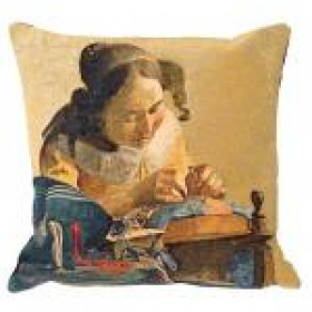 The lacemaker 45x45 cm kussen