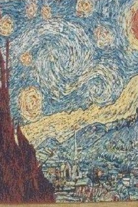 54629 Starry starry night van Gogh 47x56 cm